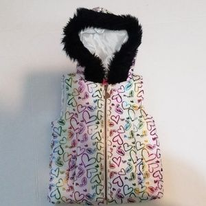 Betsey Johnson Little Girls Puffer Vest sz 5 New!